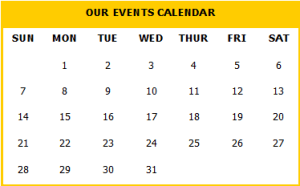 View our Events Calendar HERE
