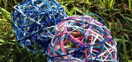 easter egg wool ball nests