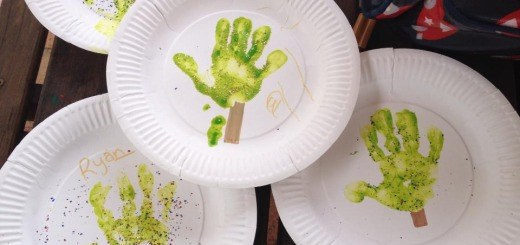 Christmas Craft - Christmas Tree Hand Prints