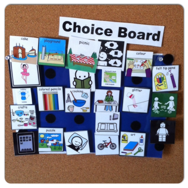 choice board for bored children