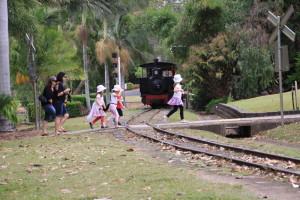 steam train ride botanic gardens