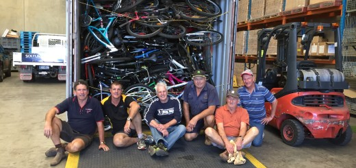 Childers Rotary loads up bikes headed for Solomons