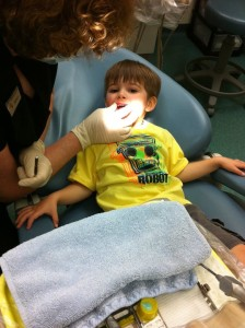 first visit to dentist