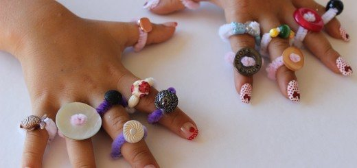 pipe cleaner button rings