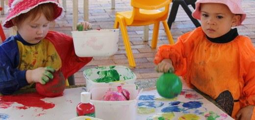balloon stamp painting