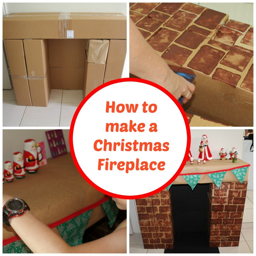 Last year we shared a post on how to make these Christmas cardboard fireplaces and I never got around to making one.......well today I did and you can to.
