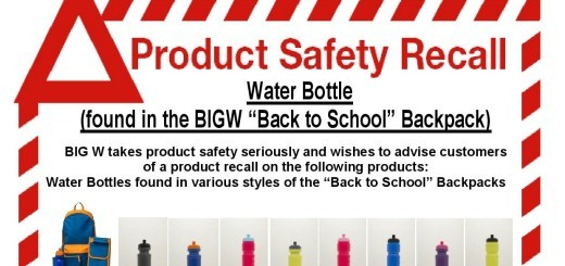 water bottle recall