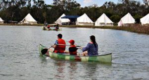 Kayking with kids burrum heads