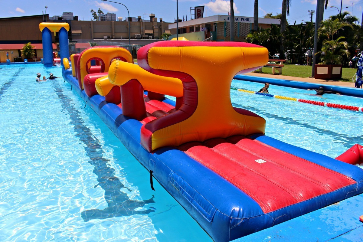 Anzac Pools Giant Inflatable Slides Wide Bay Kids