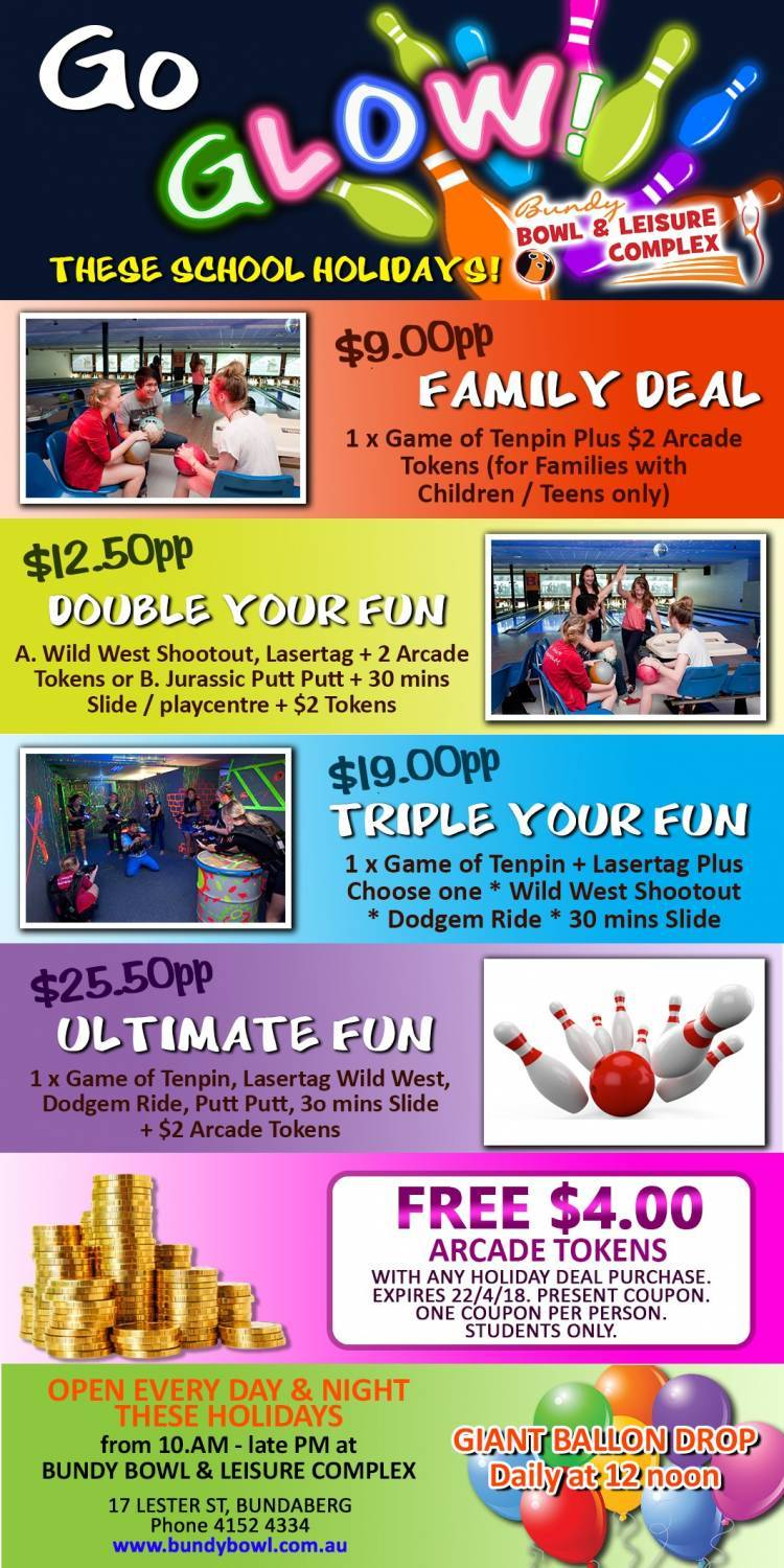 What's on at Bundy Bowl & Leisure Centre - Wide Bay Kids
